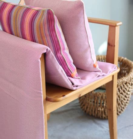 Herringbone Throw in Orchid Pink