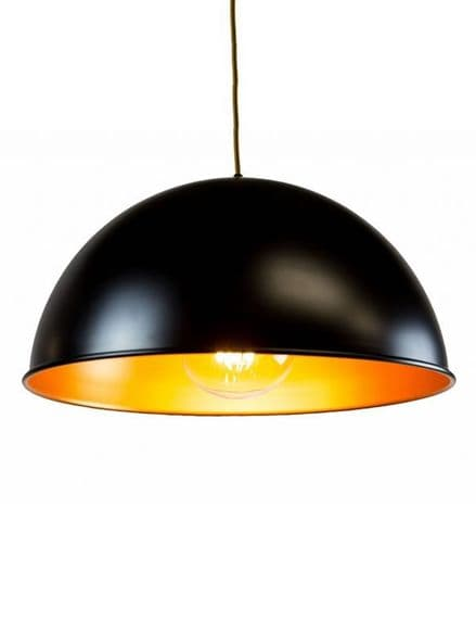 Large Metal Lamp shade in Black and Gold
