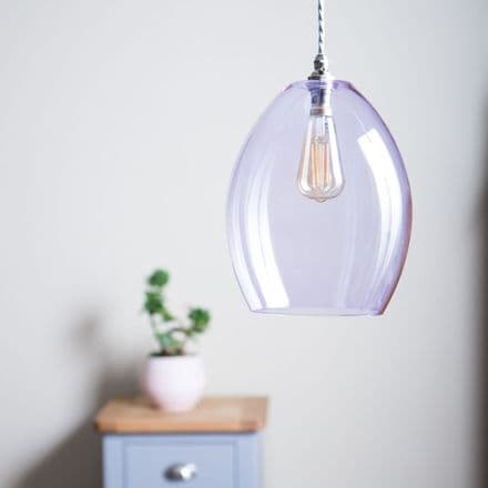 Lilac Glass Pendant Light