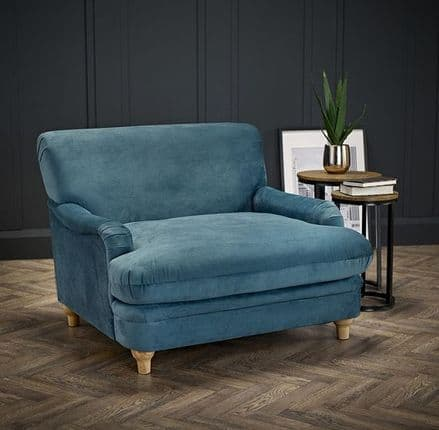 Luxurious Plumpton Armchair in Peacock Blue