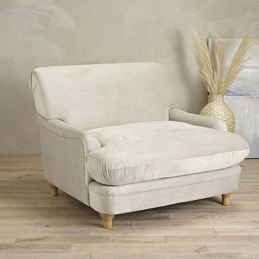 Luxurious Plumpton Armchair in Soft Beige
