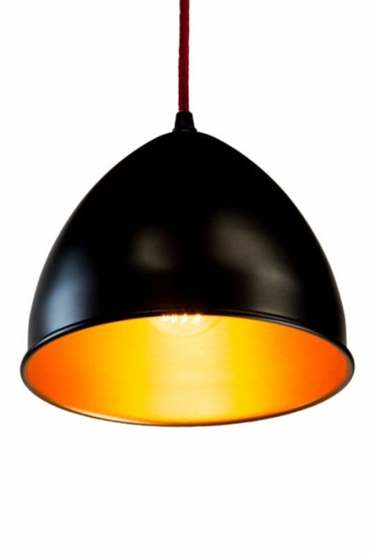 Metal Lamp shade in Black and Gold