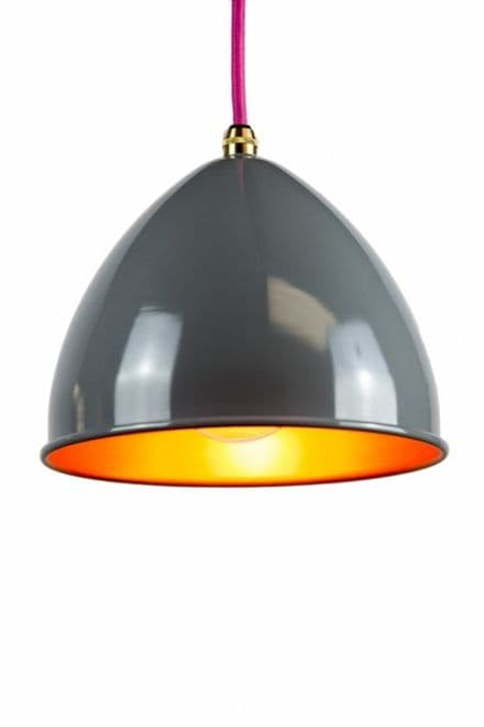 Metal Lamp shade in Grey and Gold