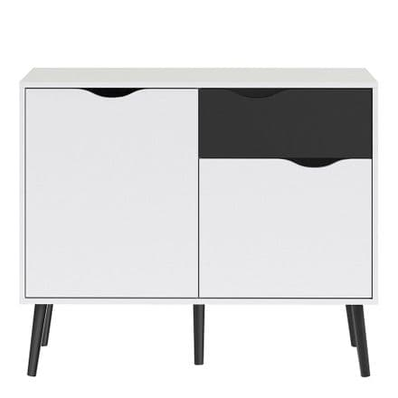 Oslo Small Sideboard in White and Black