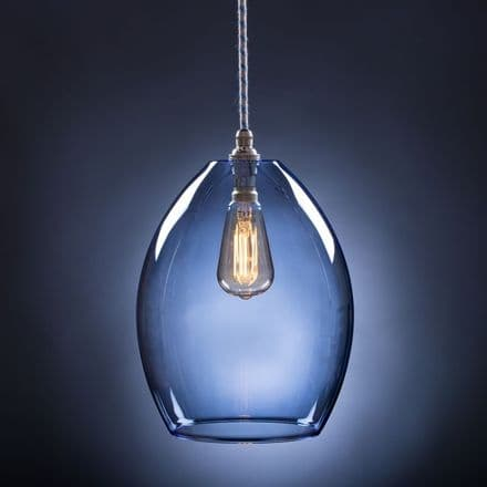 Pale Blue Glass Pendant Light