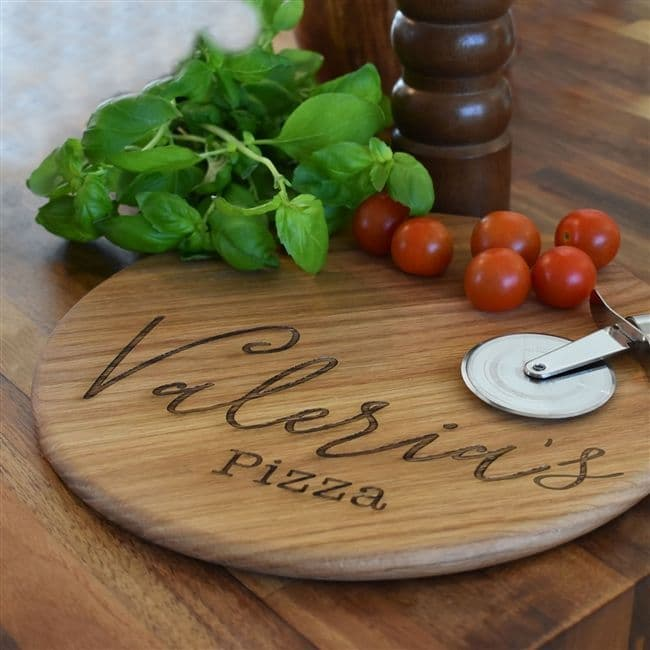 Personalised Oak Pizza Board