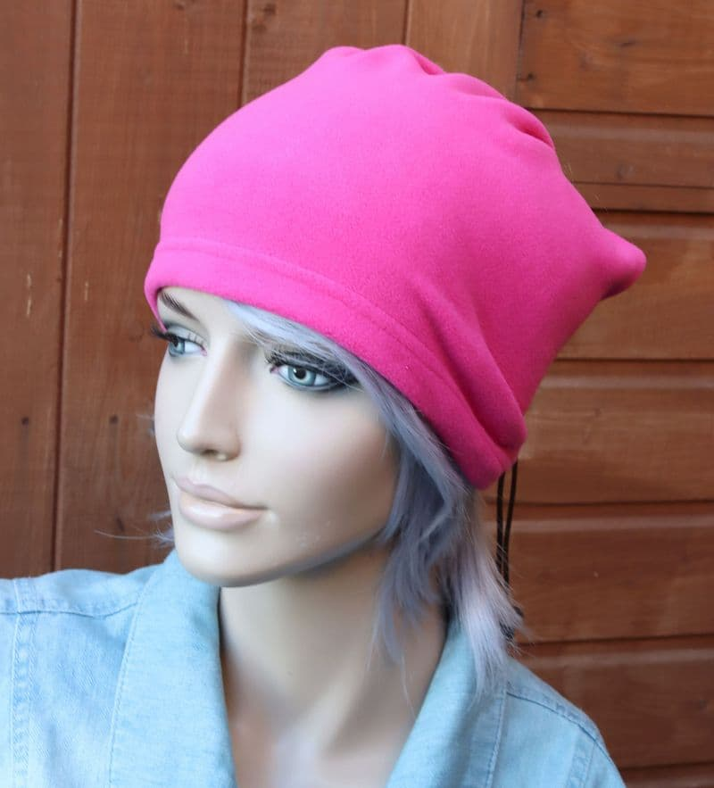 Pink Fleece Hat/ Face Covering