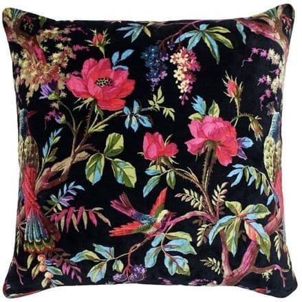 Riva Paoletti Paradise Cushion Cover Black