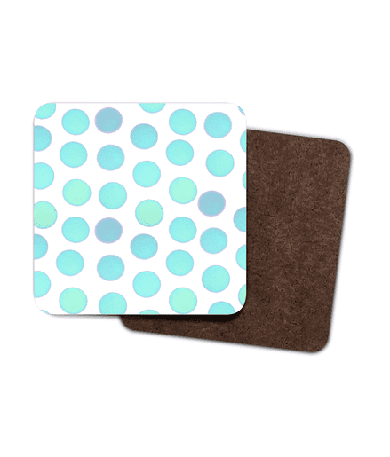 Set of 4 Coasters - Blue Dots