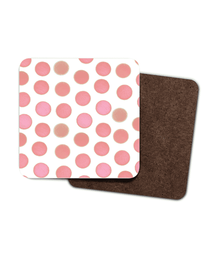 Set of 4 Coasters - Pink Dots