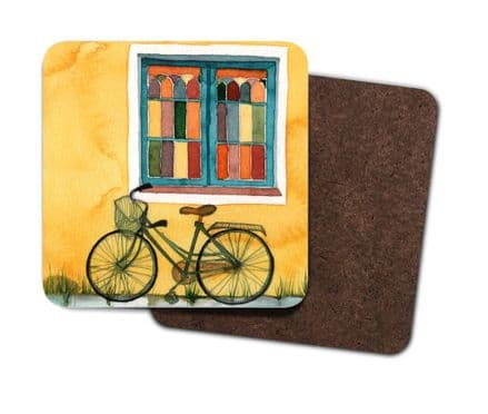 Set of 4 Coasters - Vintage Bicycle