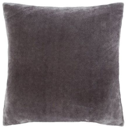 Velvet Cushion Cover in Charcoal Grey