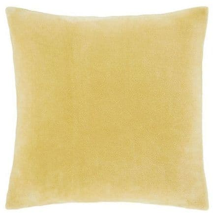 Velvet Cushion Cover in Ochre Yellow