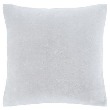 Velvet Cushion Cover in Silver Grey