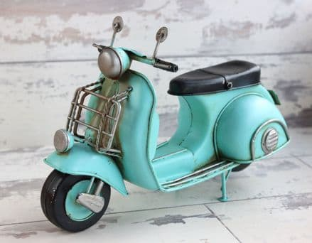 Vespa Scooter Model in Duck Egg Blue