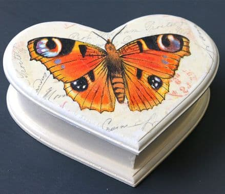 Wooden Jewellery  Box with Butterfly Design