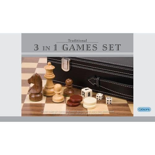 3 in 1 Games (Chess, Draughts and Backgammon)