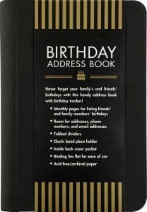 Birthday Address Book