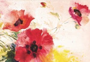 Note Cards - Watercolour Poppies