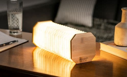 Smart Accordian Lamp - Bamboo