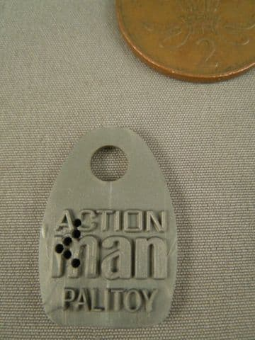 ACTION MAN 40th - Grey Plastic Dog Tag ( no chain)