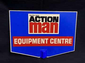 ACTION MAN - GENUINE - POINT OF SALE - EQUIPMENT CENTRE SIGN (ref23/9)