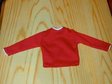 ACTION MAN - SPORTSMAN - Red Football Shirt