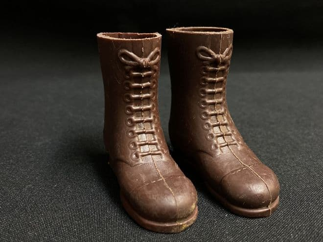 VINTAGE ACTION MAN - 1960's Tall Brown Boots