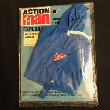 VINTAGE ACTION MAN -  EXPLORER - BLUE MOUNTAINEER ANORAK, Late Issue