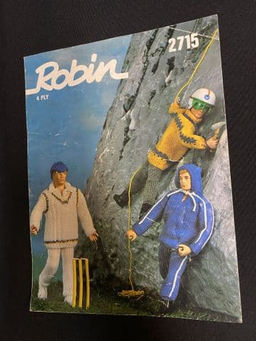 VINTAGE ACTION MAN - ROBIN 4 Ply Knitting Pattern
