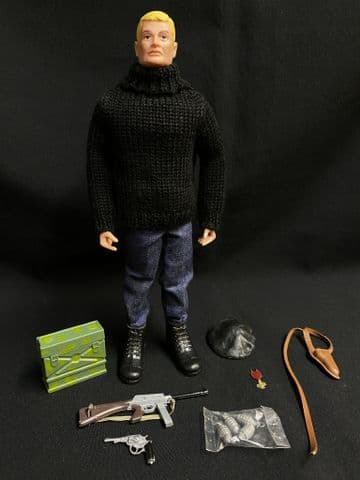 VINTAGE GI JOE FOREIGN HEAD - FRENCH RESISTANCE SOLDIER OF THE WORLD (ref 3)