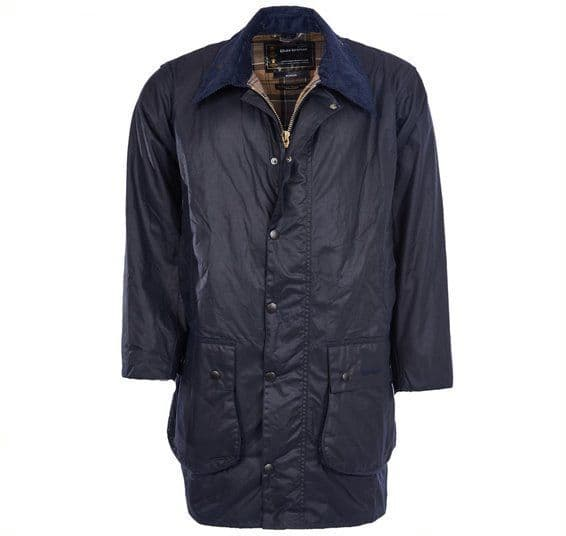 BARBOUR BORDER WAX JACKET / NAVY