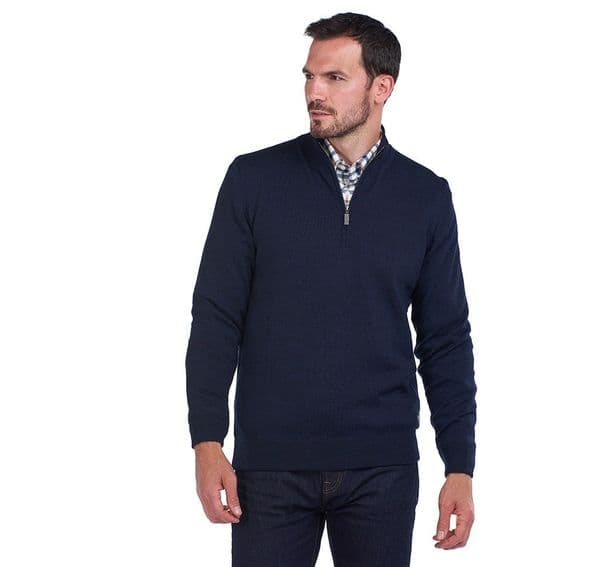 Barbour Gamlan Half Zip Sweater / Navy