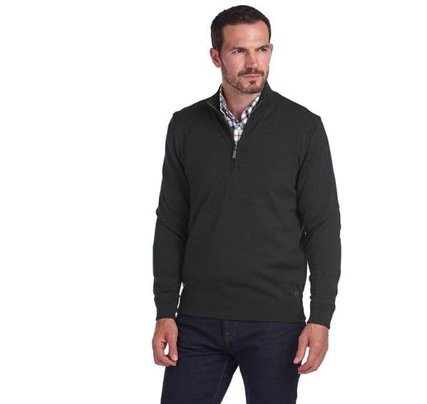 Barbour Gamlan Half Zip Sweater / Olive