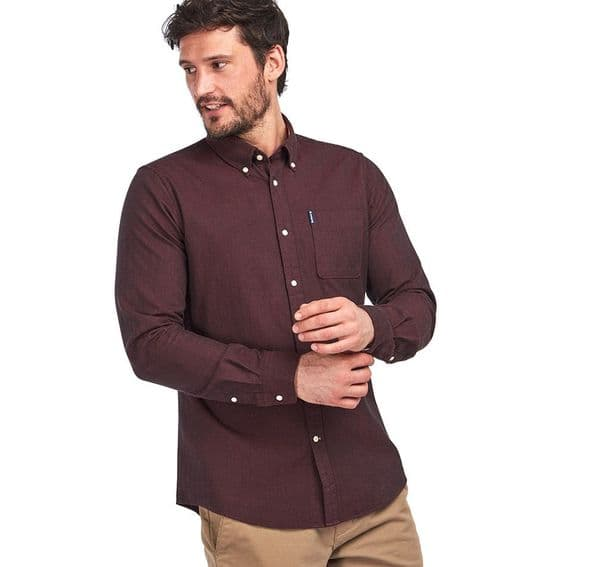 Barbour Herringbone Tailored Shirt / Merlot
