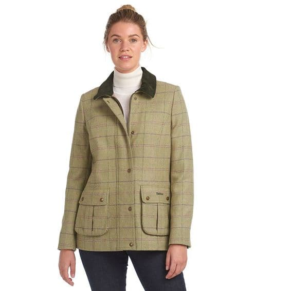 Barbour Marlow Wool Jacket / Green Pink Check