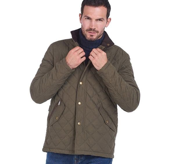 Barbour Shoveler Quilted Jacket / Army Green