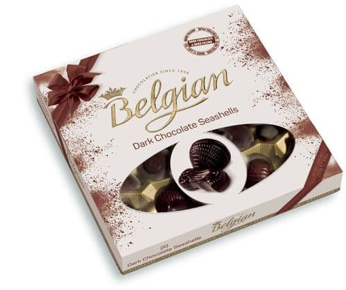 BELGIAN DARK CHOCOLATE SEASHELLS 12x250g