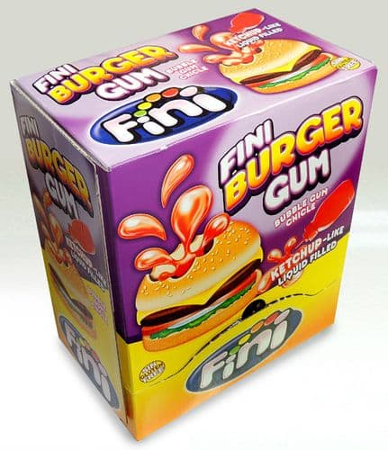 FINI BURGER GUM LIQUID FILLED x200