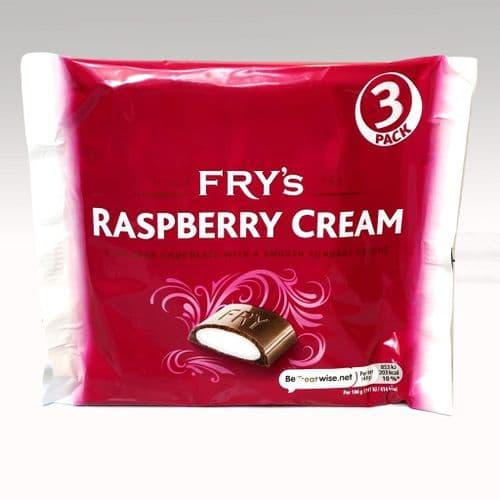 FRY'S RASPBERRY CREAM 3PK x18 BARS