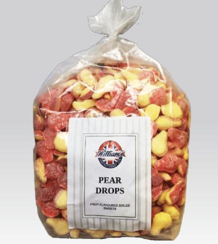 KK07 MITRE PEAR DROPS 3KG POLY BAG