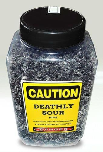 DEATHLY SOUR PIPS 3KG JAR