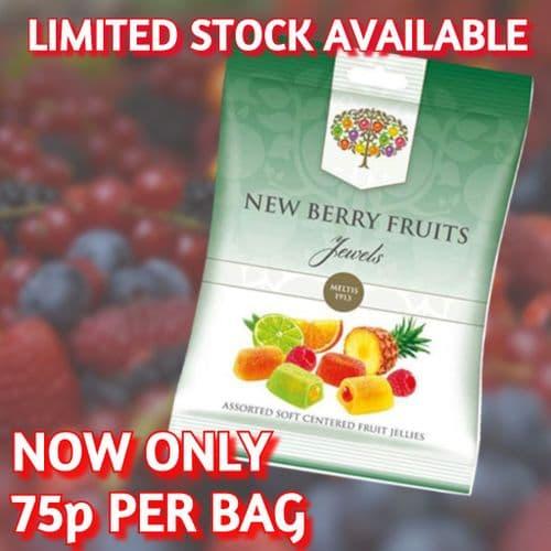 NEW BERRY FRUITS JEWELS 160g BAG x8