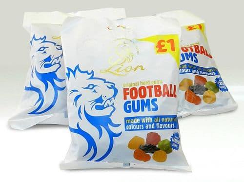 PRE-PACK LION FOOTBALL GUMS 12x150g (P.M £1)