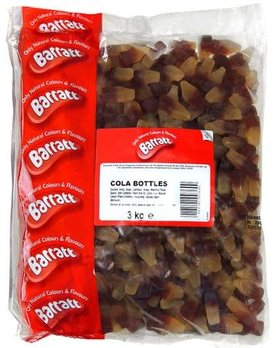QA84 BARRATTS COLA  BOTTLES 3KG
