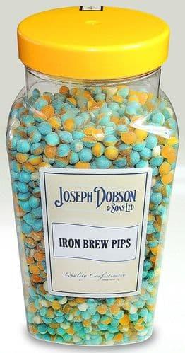 R117 DOBSONS IRON BREW PIPS JAR