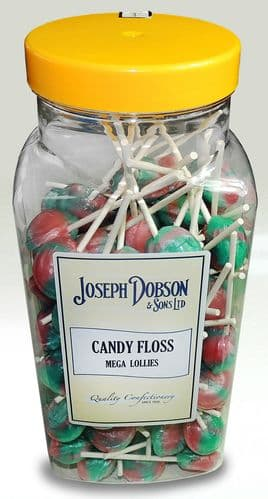 Wholesale Dobson's Candyfloss Lollies | 90 Piece Bulk Jar