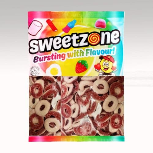 SWEETZONE SOUR STRAWBERRY RINGS 1KG