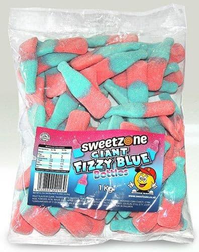 SZ94 SWEETZONE GIANT FIZZY BLUE BOTTLES 1KG