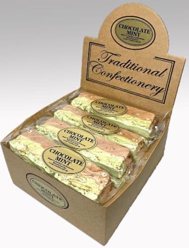 T36 MINT CHOCOLATE & PEANUT NOUGAT BARS 1x16